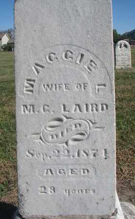 LAIRD, MAGGIE (CLOSEUP) - Union County, South Dakota   MAGGIE (CLOSEUP) LAIRD - South Dakota Gravestone Photos