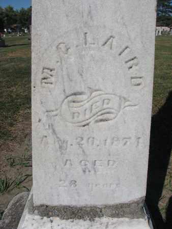 LAIRD, M.G. (CLOSEUP) - Union County, South Dakota   M.G. (CLOSEUP) LAIRD - South Dakota Gravestone Photos