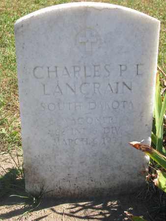 LANCRAIN, CHARLES P.E. (MILITARY) - Union County, South Dakota   CHARLES P.E. (MILITARY) LANCRAIN - South Dakota Gravestone Photos
