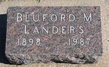LANDERS, BLUFORD M. - Union County, South Dakota   BLUFORD M. LANDERS - South Dakota Gravestone Photos