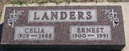 LANDERS, CELIA - Union County, South Dakota   CELIA LANDERS - South Dakota Gravestone Photos