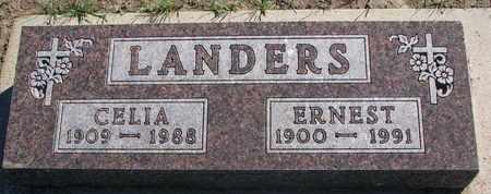 LANDERS, ERNEST - Union County, South Dakota | ERNEST LANDERS - South Dakota Gravestone Photos