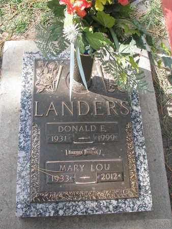LANDERS, MARY LOU - Union County, South Dakota | MARY LOU LANDERS - South Dakota Gravestone Photos
