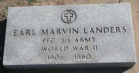 LANDERS, EARL MARVIN (WORLD WAR II) - Union County, South Dakota | EARL MARVIN (WORLD WAR II) LANDERS - South Dakota Gravestone Photos