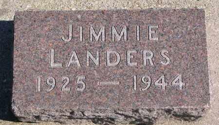 LANDERS, JIMMIE - Union County, South Dakota | JIMMIE LANDERS - South Dakota Gravestone Photos