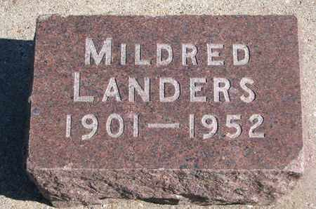 LANDERS, MILDRED - Union County, South Dakota | MILDRED LANDERS - South Dakota Gravestone Photos