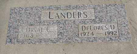 LANDERS, DELORES D. - Union County, South Dakota | DELORES D. LANDERS - South Dakota Gravestone Photos
