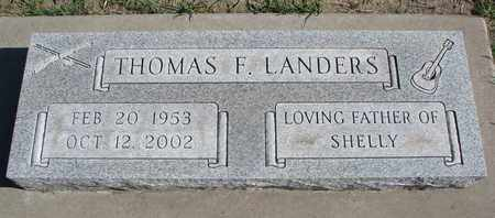 LANDERS, THOMAS F. - Union County, South Dakota | THOMAS F. LANDERS - South Dakota Gravestone Photos