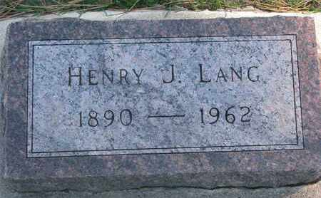 LANG, HENRY J. - Union County, South Dakota | HENRY J. LANG - South Dakota Gravestone Photos