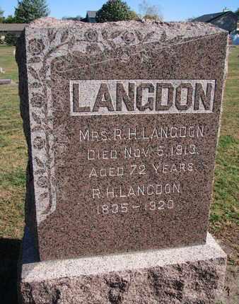 LANGDON, R.H. - Union County, South Dakota | R.H. LANGDON - South Dakota Gravestone Photos