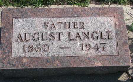 LANGLE, AUGUST - Union County, South Dakota | AUGUST LANGLE - South Dakota Gravestone Photos