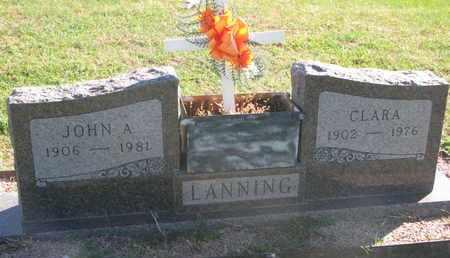LANNING, JOHN A. - Union County, South Dakota | JOHN A. LANNING - South Dakota Gravestone Photos