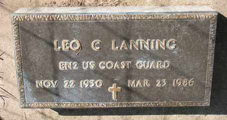 LANNING, LEO C. (MILITARY) - Union County, South Dakota   LEO C. (MILITARY) LANNING - South Dakota Gravestone Photos