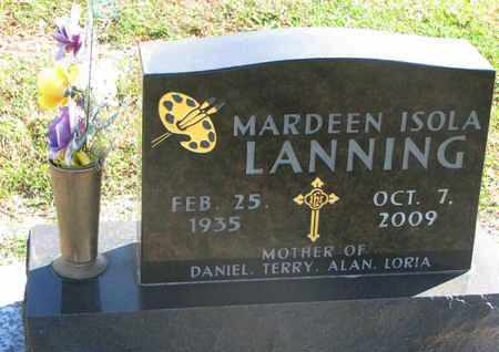 LANNING, MARDEEN ISOLA - Union County, South Dakota   MARDEEN ISOLA LANNING - South Dakota Gravestone Photos