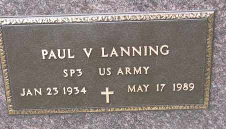 LANNING, PAUL V. (MILITARY) - Union County, South Dakota   PAUL V. (MILITARY) LANNING - South Dakota Gravestone Photos