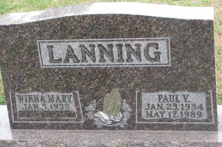 LANNING, PAUL V. - Union County, South Dakota | PAUL V. LANNING - South Dakota Gravestone Photos
