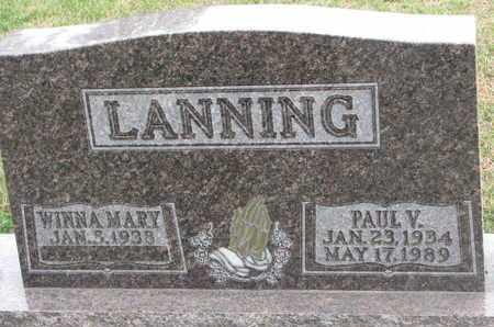 LANNING, PAUL V. - Union County, South Dakota | PAUL V. LANNING - South Dakota Gravestone Photos