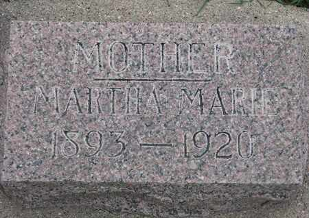 LARSEN, MARTHA MARIE - Union County, South Dakota | MARTHA MARIE LARSEN - South Dakota Gravestone Photos