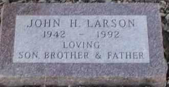LARSON, JOHN H - Union County, South Dakota | JOHN H LARSON - South Dakota Gravestone Photos