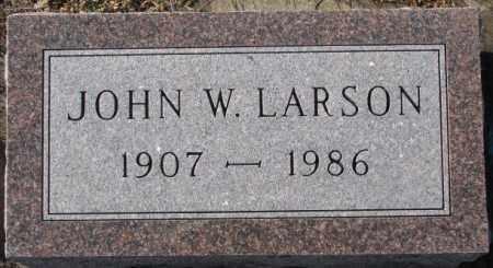 LARSON, JOHN W. - Union County, South Dakota | JOHN W. LARSON - South Dakota Gravestone Photos