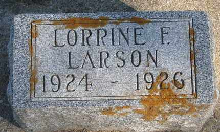 LARSON, LORRINE F. - Union County, South Dakota   LORRINE F. LARSON - South Dakota Gravestone Photos