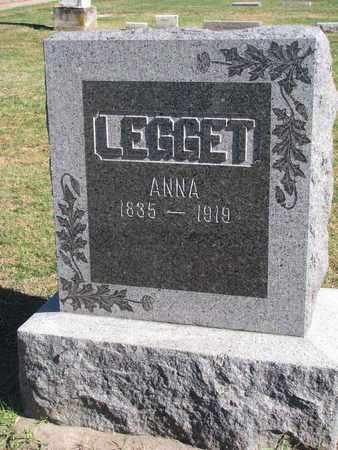 LEGGET, ANNA - Union County, South Dakota   ANNA LEGGET - South Dakota Gravestone Photos