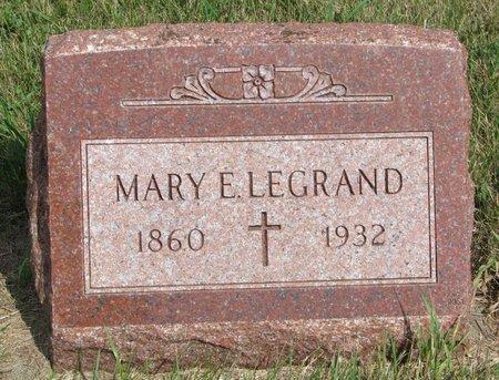 LEGRAND, MARY E. - Union County, South Dakota | MARY E. LEGRAND - South Dakota Gravestone Photos