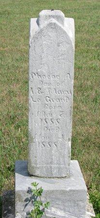 LEGRAND, PHOEBE A. - Union County, South Dakota   PHOEBE A. LEGRAND - South Dakota Gravestone Photos