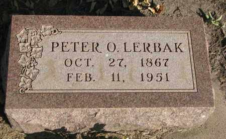 LERBAK, PETER O. - Union County, South Dakota | PETER O. LERBAK - South Dakota Gravestone Photos