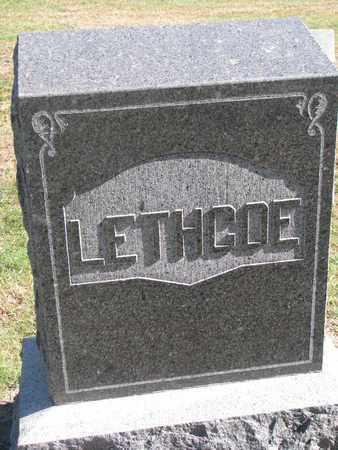 LETHCOE, FAMILY STONE - Union County, South Dakota | FAMILY STONE LETHCOE - South Dakota Gravestone Photos