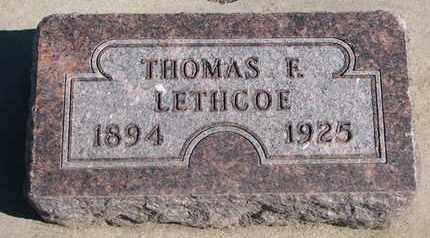 LETHCOE, THOMAS F. - Union County, South Dakota | THOMAS F. LETHCOE - South Dakota Gravestone Photos