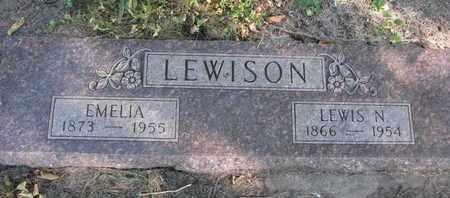 LEWISON, EMELIA - Union County, South Dakota   EMELIA LEWISON - South Dakota Gravestone Photos