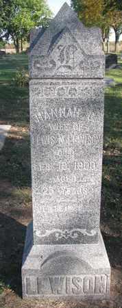 LEWISON, HANNAH C. - Union County, South Dakota | HANNAH C. LEWISON - South Dakota Gravestone Photos