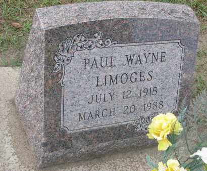LIMOGES, PAUL WAYNE - Union County, South Dakota   PAUL WAYNE LIMOGES - South Dakota Gravestone Photos