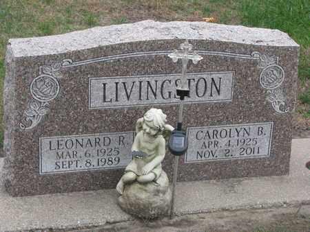 LIVINGSTON, LEONARD R. - Union County, South Dakota | LEONARD R. LIVINGSTON - South Dakota Gravestone Photos