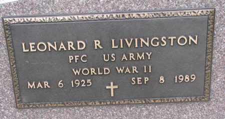 LIVINGSTON, LEONARD R. (WORLD WAR II) - Union County, South Dakota   LEONARD R. (WORLD WAR II) LIVINGSTON - South Dakota Gravestone Photos
