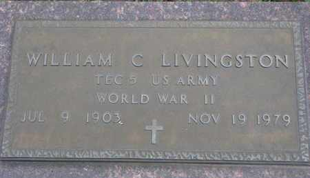 LIVINGSTON, WILLIAM C. (WORLD WAR II) - Union County, South Dakota | WILLIAM C. (WORLD WAR II) LIVINGSTON - South Dakota Gravestone Photos