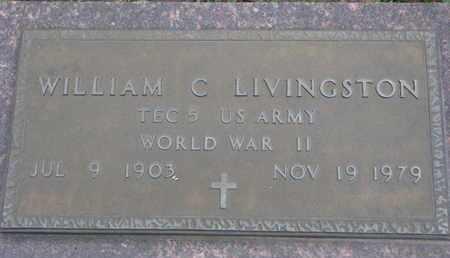 LIVINGSTON, WILLIAM C. (WORLD WAR II) - Union County, South Dakota | WILLIAM C. (WORLD WAR II) LIVINGSTON - South Dakota Gravestone Photos