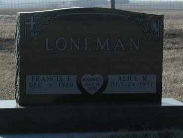 LONEMAN, ALICE M - Union County, South Dakota | ALICE M LONEMAN - South Dakota Gravestone Photos