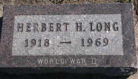 LONG, HERBERT H. - Union County, South Dakota | HERBERT H. LONG - South Dakota Gravestone Photos