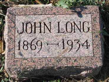 LONG, JOHN - Union County, South Dakota | JOHN LONG - South Dakota Gravestone Photos