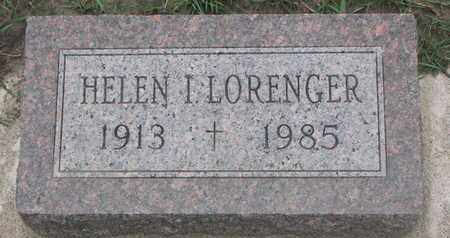 LORENGER, HELEN I. - Union County, South Dakota | HELEN I. LORENGER - South Dakota Gravestone Photos