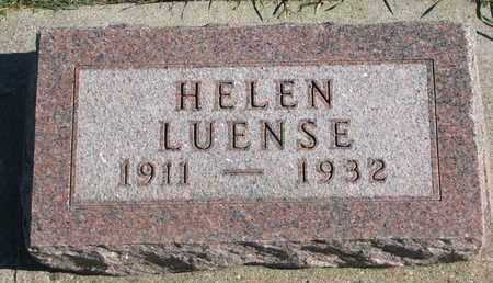 LUENSE, HELEN - Union County, South Dakota | HELEN LUENSE - South Dakota Gravestone Photos