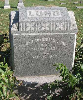 LUND, JOHN GUNDERSON - Union County, South Dakota | JOHN GUNDERSON LUND - South Dakota Gravestone Photos