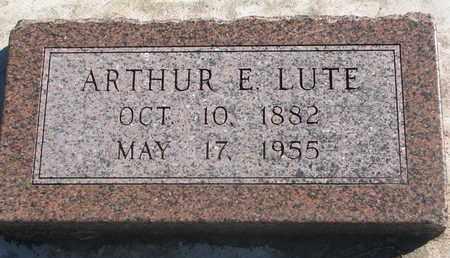 LUTE, ARTHUR E. - Union County, South Dakota | ARTHUR E. LUTE - South Dakota Gravestone Photos