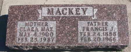 MACKEY, FRANCIS J. - Union County, South Dakota | FRANCIS J. MACKEY - South Dakota Gravestone Photos