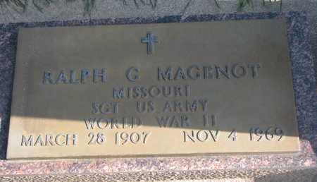 MAGENOT, RALPH C. (WORLD WAR II) - Union County, South Dakota   RALPH C. (WORLD WAR II) MAGENOT - South Dakota Gravestone Photos