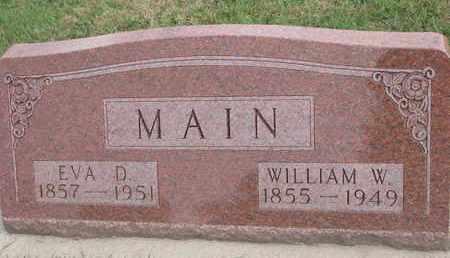MAIN, WILLIAM W. - Union County, South Dakota | WILLIAM W. MAIN - South Dakota Gravestone Photos