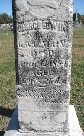 MAIN, GEORGE EDWIN (CLOSEUP) - Union County, South Dakota | GEORGE EDWIN (CLOSEUP) MAIN - South Dakota Gravestone Photos
