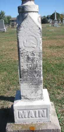 MAIN, GEORGE EDWIN - Union County, South Dakota | GEORGE EDWIN MAIN - South Dakota Gravestone Photos